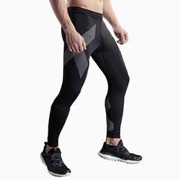 Wholesale Tight Clothes Dance - Wholesale-Compression Men running pants basketball Tights Yoga dance leggings trousers Soccer Football Fitness Gym Sports bottoms clothes