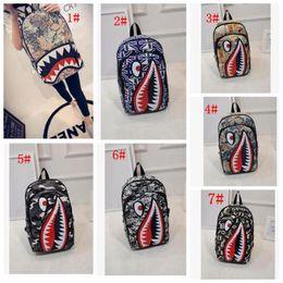 Graffiti Anime Shark Printing Backpack For Teenage Boy Girl Women Men  School Bags Cool Laptop Bag Travel Backpack 4634d3b6c78b8