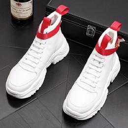mens tobillo botas correas Rebajas ERRFC para hombre personalizado blanco alto superior zapatos casuales plataforma de moda hebilla correa negro moda botas hombre ocio botines