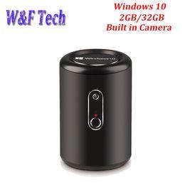 Wholesale Mini Intel - 2G 32G G2 Windows 10 TV Box Mini PC support Bay Trail CR Intel Z3735F Quad Core 2.4G 5.8G WIFI 2.0 MP Camera TV Box with MIC