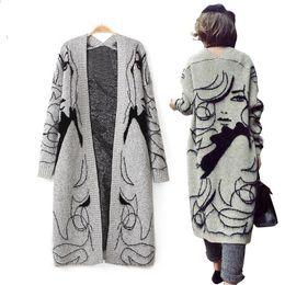 2e5b7093e8 Cardigan 2018 autumn women fashion Women sweater Ribbed top womens sweaters  winter Mohair Casual Cardigans Batwing Sleeve