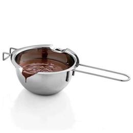 Canada En gros-1 Pc En Acier Inoxydable Chocolat Melting Pot Beurre De Lait Versant Bol Cuisine Boulangerie Cuisson Mélange Outils Helper Gadgets Ustensiles De Cuisson supplier bowl chocolate Offre