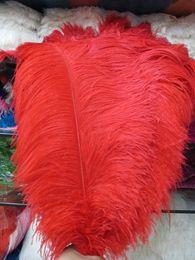Качество большой полюс натуральный красный страусиное перо 45-50 см /18-20 дюймов свадебные украшения карнавал сценическое представление от