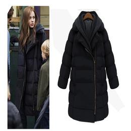Giacca invernale da donna in piumino con cappuccio in piumino di cotone invernale cheap chiffon coat plus size da cappotto chiffon più il formato fornitori