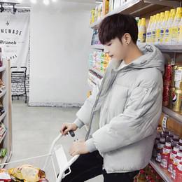 cappuccio maschile coreano Sconti Casual Fashion Short Winter Parka Jacket Uomo stile coreano con cappuccio caldo spessore cappotto tasche con cerniera Abbigliamento uomo più dimensioni
