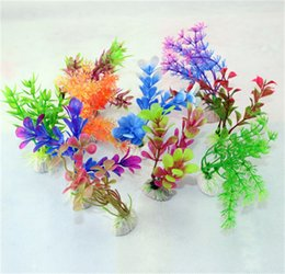 Wholesale Grass Ornaments - Artificial Plastic Aquarium Plants Grass For Aquarium Background Fishtank Aquarium Ornament Decoration Simulation Flowers Hot Sale 0 3sy Z