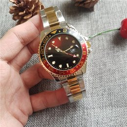 Wholesale Luxury Watch Light - New 44MM Luxury watch brand luxury quality man's highest military sports timing wrist watch yellow light golden port 44 mm quartz watch