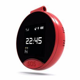 S9 reloj de bolsillo soporte de monitor tarjeta SIM pequeña tarjeta roja posicionamiento GPS reloj de bolsillo llamada bidireccional llamada SOS desde fabricantes