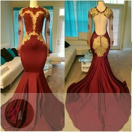 Wholesale Orange Country Girl - 2017 sexy elegant long lace evening gowns royal blue black girl western country woman dress long sleeves prom formal dresses mermaid