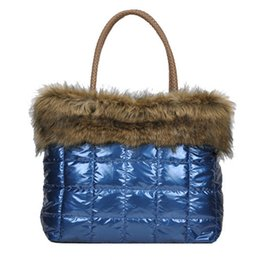 Большие хлопчатобумажные сумки онлайн-2018 di Marca Women's Handbag Fashion Down Jacket Soft Bag Cotton Space Bags Ladies Shoulder Bag Stuffed Large Tote