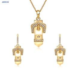 goldene halskette für braut Rabatt JAVRICK 1 Set Ohrringe Halskette Frauen Schmuck Geschenke Luxus Goldene Anhänger Braut Hochzeit
