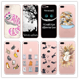 Wholesale Chicken Cat - Transparent Soft Tpu Case for Iphone X 7 8 6 plus Samsung Galaxy S7 edge s8 Note Cat Kitty Chicken Animals Cartoon Silicone Cover