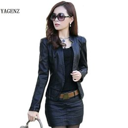 Wholesale Ladies Leather Suits - version of Korean the new PU lady small leather short paragraph Slim thin machine wagon jacket female big yards suit B87