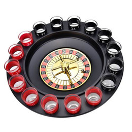 Wholesale games explore - Creative Novelty Russia Drinking Turntable Shot Glass Drinking Game Roulette Set With 16 Shot Glasses Adult Party Drinking Set