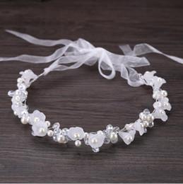 Nupcial hecho a mano de cristal cabeza de la flor vestido de boda accesorios de accesorios con accesorios para el cabello de los niños desde fabricantes
