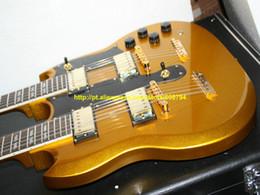 2019 private aktiengitarren Kundenspezifischer goldener 1275 doppelter Hals E-Gitarren-goldene Teile goldene 12 Saiten / 6 Schnur-Gitarren China-Gitarre Freies Verschiffen