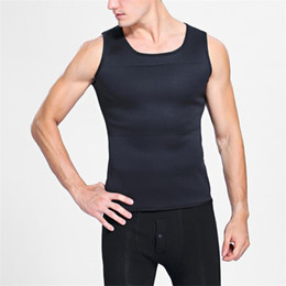 2f642f8b50b5e Slimming Belt Belly Men Vest Body Shaper Neoprene Abdomen Fat Burning  Shaperwear Waist Sweat Corset Weight Loss US size S-5XL