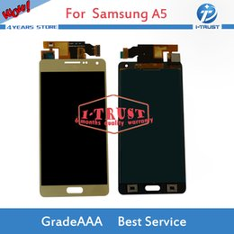 Wholesale Lcd Oled - OLED Wholesale 100% New LCD Display For Samsung A5 2015 A500 A500 LCD Touch Screen Digitizer With Free Shipping