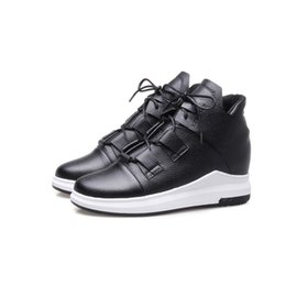 Wholesale womens wedges sneakers - Favofans Hot Sale Womens Girls Solid Sport Casual Round Toes Lace up Martin Boots Sneakers Runners Shoes FF-B878 Size All customized