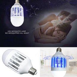 Wholesale Uv Mosquito Killer - 2018 NEW Hot Electric Mosquito Killer Bulb UV LED Bulbs Light Lighting Mosquito Control Dual-Purpose Lamp Switch Bulb LED Anti Mosquito Lamp