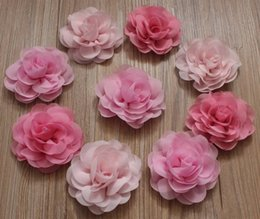 Wholesale Fabric Chic - 50pcs 8cm Chic Chiffon Fabric Flowers for Girls Hair Accessories,Headband,Clothing,Hair Clip Flowers,DIY Craft Supplies