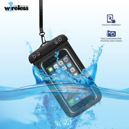 Wholesale Compass Water - Waterproof phone bag PVC Protective Mobile Phone Case Pouch With Compass Bags Diving Swimming Sports For iphone X 7 8 plus S8 s8plus
