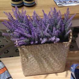 piante artificiali di giglio artificiale Sconti Provence Lavender Flower Silk Tomentum Colorful Artificial Lavender Flower Lilla Viola Bianco Decorazione di nozze Festa a casa