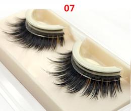 Wholesale Hair Glue Adhesive - 3D Mink Eyelashes Self-adhesive Eyelashes Free Glue 3 secs Wear Extension Eyelashes 06 07 08 30set