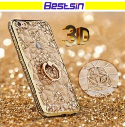 Wholesale queen fitted - Special For Female Phone Case 3D Queen Ring Kickstand Soft TPU diamond Style For Iphone X Phone Case DHL Free Shipping