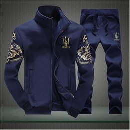 Wholesale Mens Suit Embroidery - Designer Tracksuit Men Luxury Sweat Suits Autumn Brand Mens Tracksuits Jogger Suits Jacket + Pants Sets Sporting Suit Hip Hop Sweatshirts