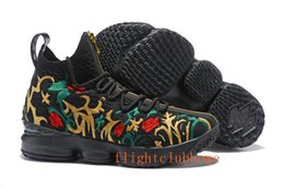 Wholesale Spring Autumn Crochet - 2018 james 15 black flower Men lebron shoess Fruity Pebbles Sports Shoes Mens Running Shoes James 15 For Sale size 7-12