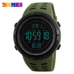 SKMEI Verde Chronograph Men Relógios Silicone contagem regressiva LED Digital Sport Watch Homens de pulso saat reloj deportivo de Fornecedores de cristais de epóxi