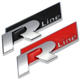 Wholesale Rline Emblem - New Metal 3D Car Auto Rline Sticker Emblem R Line Badge for Volkswagen VW GOLF GTI Beetle Polo CC Touareg Tiguan Passat Scirocco