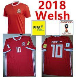 Wholesale Muay Thai Boxing Shorts - 2018 Welsh Soccer Jersey 2018 19 Home Jersey BALE RAMSEY WARD Allen David Camisetas Muay Thai Top Thai Boxing Premium Soccer Shirt