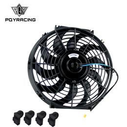 "Ventiladores elétricos 12v on-line-PQY-12 Polegada Universal 12 V 80 W Slim Reversível Radiador Elétrico AUTO FAN Push Pull Com kit de montagem Tipo S 12 ""PQY-FAN12"