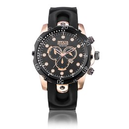 Wholesale Army Glasses - 2018 New INVICTA Wristwatch Swiss Stainless Steel Rose Gold Quartz Watch Men Sport Military DZ Watches Silicone Strap Army Calendar Clock