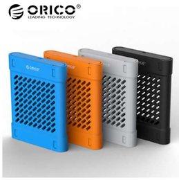 2019 синий hdd ORICO 2.5 дюймов HDD силиконовый защитный ящик для хранения сумка жесткий диск защитный чехол для жесткого диска SSD черный / синий / серый / желтый дешево синий hdd