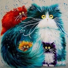 óleo, pinturas, lona, orquídeas Desconto DIY 5D Diamantes Bordados Rodada Pintura Diamante Cross Stitch Kits Diamante Mosaico Decoração de Casa gatos