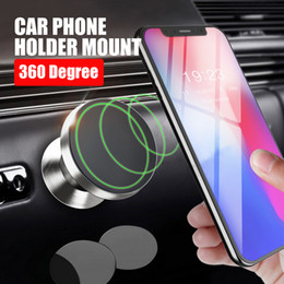 Wholesale Head Magnets - Universal Metal Phone holder Magnet bracket 360 Rotation Swivel Head For cell phone holder car accessories