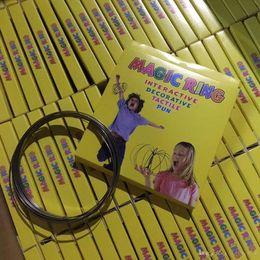 Волшебное кольцо металла Toroflux Кольцевой поток декомпрессии игрушки голографическим путем при движении создает Кольцевой поток игрушек поток браслет с пакет от Поставщики терапевтические ролики