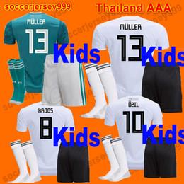 Wholesale Germany Kits - KIDS kit soccer jerseys 2018 world cup OZIL MULLER GOTZE HUMMELS KROOS BOATENG WERNER DRAXLER GeRMAny 2019 Boys football shirt uniforms