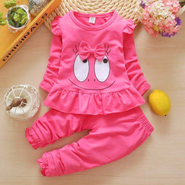 Wholesale Girls Purple Tracksuit - Baby Girls Clothing Set Spring Autumn Kids Tracksuit Set for Girls Children Casual Suits Girls Outfit Costume Clothes