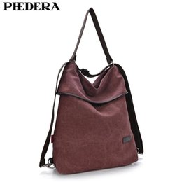 high quality stylish backpacks Australia - Multifunction Big Women's Backpack Retro Stylish Quality Washed Canvas High School Rucksack Large Female Shoulder Bags Backpacks