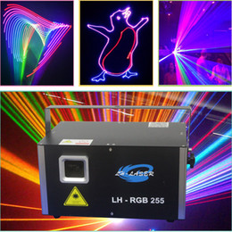 Wholesale 3w Green Laser - 3W RGB laser light scanning laser galvo laser 45Kpps analog laser concert lighting stage lighting TV show lighting
