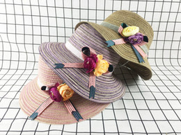 Wholesale Fold Sun Hats - Korean Cute Sun Visor Bow Beach Women's Straw Hat Folding Comfortable Travel Small Eaves Straw Hat