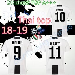 Wholesale Buffon Jerseys - 18 19 Larger size XXL XXXL XXXXL Thai quality Soccer jersey 2018 2019 Buffon MARCHISIO DYBALA HIGUAIN DANI ALVES MANDZUKIC Football shirt