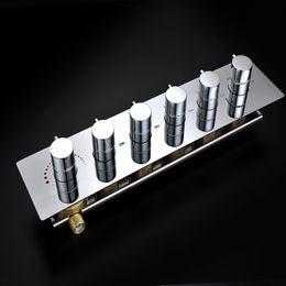 Inverseur en laiton en Ligne-Mélangeur fixé au mur de chrome en laiton de valve de déviateur de douche de flux élevé chaud et froid d'hôtel / accessoires de douche de salle de bains