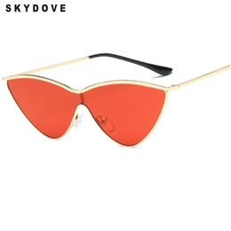 Wholesale Round Cateye Sunglasses - SKYDOVE Cateye Sunglasses Vintage Silver Womens Sunglasses UV400 2018 Sun Glasses For Women Brand Designer Fashion