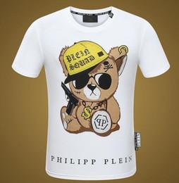 Ropa europea de alta calidad online-En 2018, la nueva línea de ropa de marca de lujo de la marca de moda para hombre de la camiseta europea de alta calidad, con la letra ocio, camiseta ajustada21