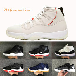 0725c49638c603 11s new Platinum Tinta Scarpe da basket Uomo Prom Night Donna blackout  Palestra Red concord Baroni Midnight Navy Space Jam PRM Heiress Sport  Sneaker